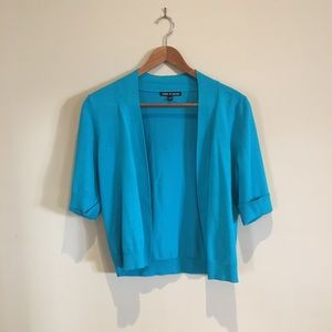 Cable & gauge bright blue cardigan